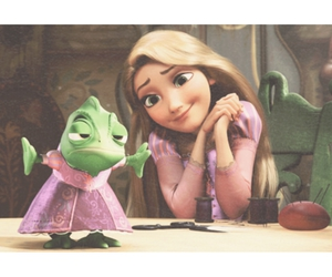 rapunzel, tangled, and pascal image