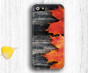 wood leaves iphone 5 case and wood leaves iphone 4 case image