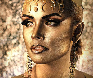 desert princess, gold makeup, and fashion makeup image
