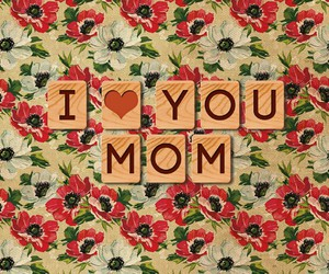 love, mom, and flowers image