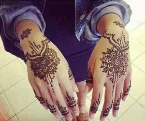 henna, henne, and tattoo image