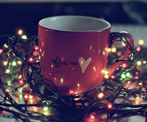 light, christmas, and coffee image
