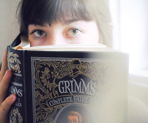 book, girl, and cute image