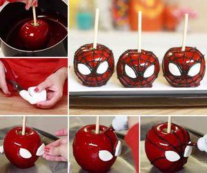 apple, spiderman, and diy image