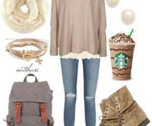 outfit and starbucks image