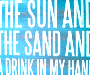sand, drink, and summer image