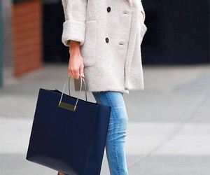 bag, denim, and outfit image