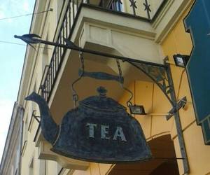 Poland, warsaw, and tea sign image
