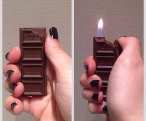 chocolate and fire image