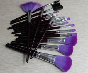 Brushes, make, and makeup image