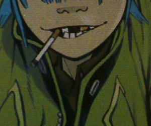 gorillaz and 2d image