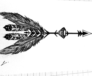 arrow, black, and feather image