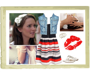 blair waldorf, stripes, and leightoon meester image