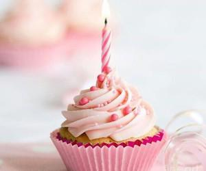 cupcake, pink, and birthday image