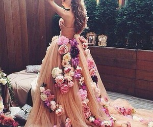 dress and flower image