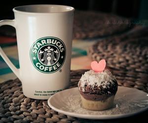 starbucks, coffee, and cupcake image