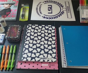 diaries, organized, and pens image