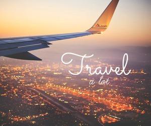 airplane, beautiful, and lights image