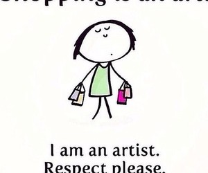 shopping, art, and artist image