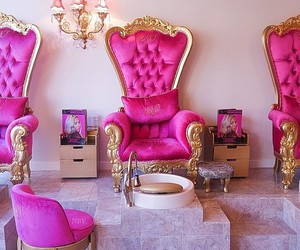 pink, luxury, and gold image