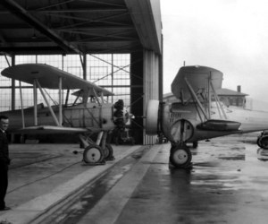 airplanes and old image