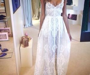 dress, fashion, and white image