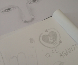 art, drawing, and rise against image