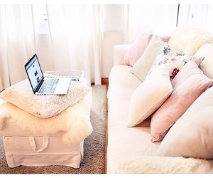decor, pillows, and home image