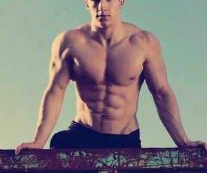 abs, cute boy, and sixpack image