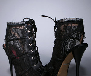 betsey johnson, heels, and lace image
