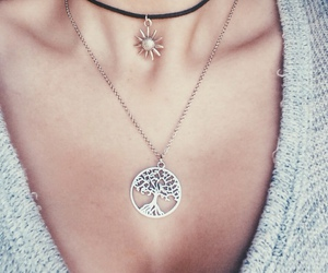 necklace, style, and tree image