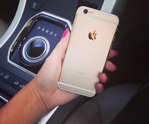iphone, gold, and luxury image