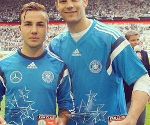 germany, manuel neuer, and mario gotze image