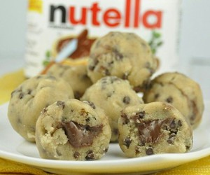 cookie dough, food, and nutella image