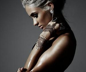 tattoo, hair, and henna image