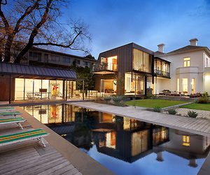 house, pool, and design image