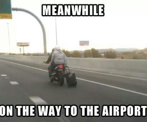 funny, airport, and lol image
