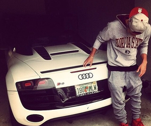 boy, car, and audi image