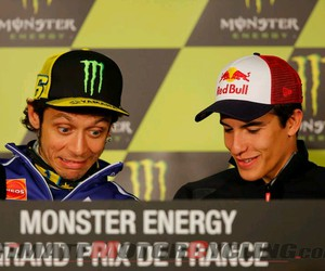 funny, valentino rossi, and marc marquez image