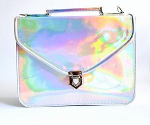 bag, holographic, and work image