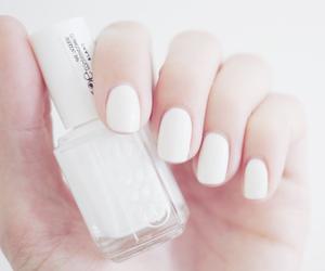 nails, white, and nail polish image