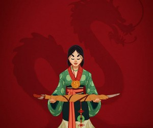 mulan, disney, and princess image