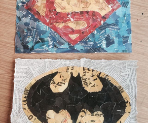 Collage, diy, and superman image