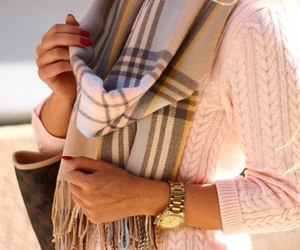 Burberry, scarf, and fashion image