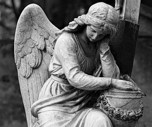 angel, sculpture, and vintage image