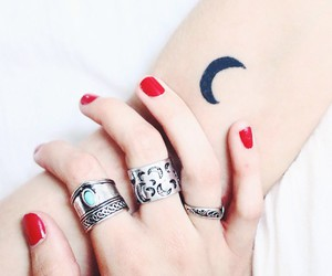 girl, jewels, and nails image