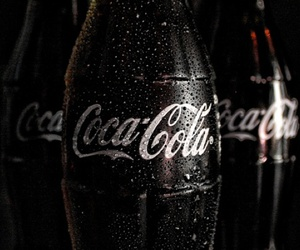 black, dark, and coca cola image