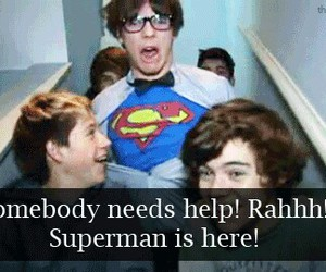 one direction, louis tomlinson, and superman image