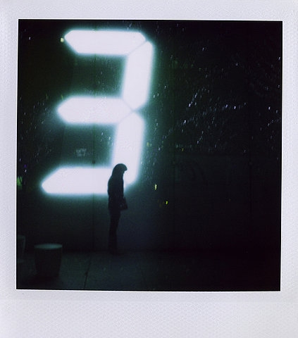 3, neon, and polaroid image