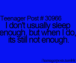 sleep and teenager post image